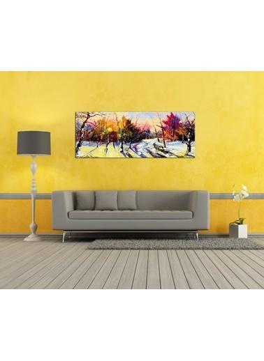 Chic Life Chic Life Renkli Orman Kanvas Tablo-40x120 cm Renkli